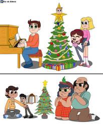The Phalanges and Hernandezes celebrates Christmas by EricVonSchweetz