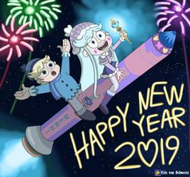 Moon to Moon (aka Happy New Year 2019) by EricVonSchweetz