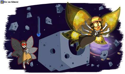 Estrella vs. Strikerfly in the Air Race by EricVonSchweetz