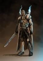 Warhammer inspired knight by Schnedler