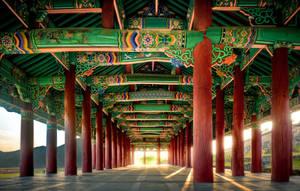 korean architectural art by wulfman65