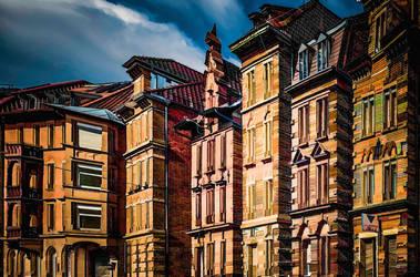The Town Houses II by wulfman65