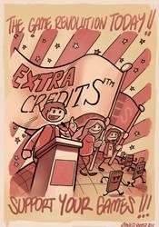 EXtra Credits Fan art by davidhueso