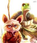 Shifu and Master Oogway by Vermeilbird