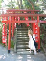 Japan-sanctuaire Hachima torii by melusineistross