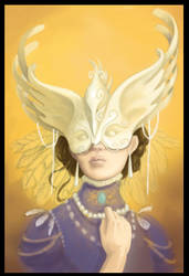 Lady with a mask by melusineistross