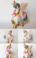 Princess Celestia G4 Custom Pony by Oak23