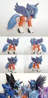 Aperture Science Princess Luna G4 custom Pony by Oak23