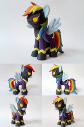Nightmare Night Shadowbolt Dash G4 Custom Pony by Oak23