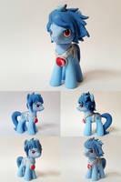 Techno Blue OC G4 Custom Pony by Oak23