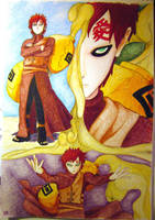 Gaara of the Sand by isayreadordie