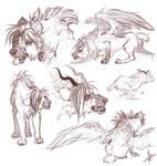 Nero Sketches by FireofAnubis