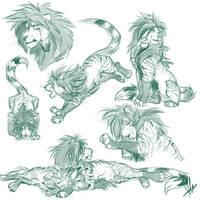 Zack Sketches by FireofAnubis