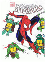 TMNT and Spider-Man by JesseSalbato