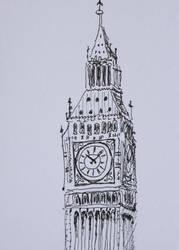 Inktober: 14. clock by Lauredin