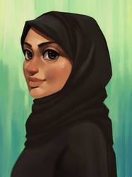 Girl in hijab by Boss-Arts
