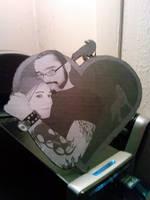 Sara and Jeff: Cardboard Heart by Kuiosikle