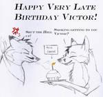 Happy VERY late Birthday by MadCheshireFox