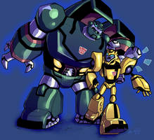 Bulkhead and Bumblebee by kykywka