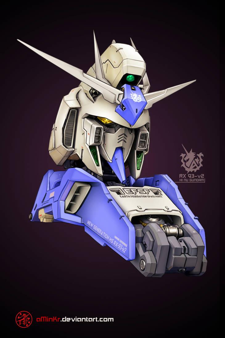 RX-93-v2 Hi Nu Gundam by aminkr