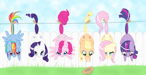 Clothespin Ponies by steffy-beff