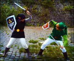 LoZ: Shadow VS Green by KuraiOfAnagura