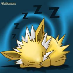 Jolteon's nap by Cachomon