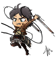 Chibi Eren - Shingeki no Kyojin (Attack on Titan) by Cachomon