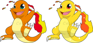 +004 - Charmander+ by Cachomon