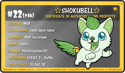 Mint Ice-Creamed Wolf Shokubell ID by Cachomon