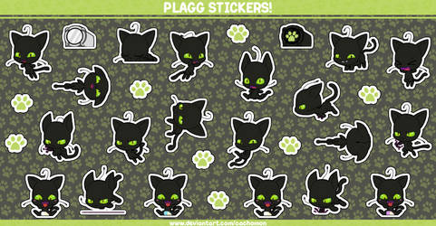 Plagg the Kwami Stickersheet by Cachomon