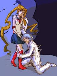 Sailor Moon Death of prince Diamond by Asisko4
