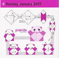 Panda origami by vbabemoon