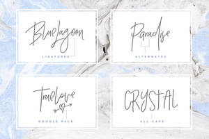 Crystal Sky Font Set by creativework247