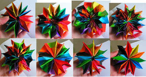 Origami fireworks by Ivy-Juniper