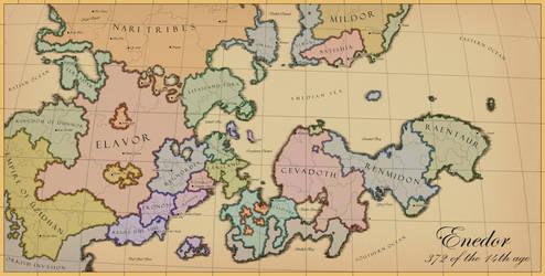 Enedor Map by RobbieMcSweeney