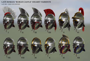 Late Roman 'Burgh Castle' Helmet Variants by RobbieMcSweeney