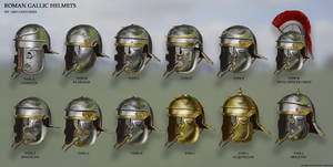 Roman Gallic Helmet Variations by RobbieMcSweeney
