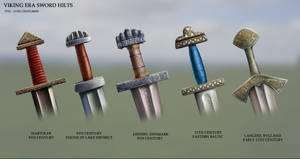 Viking Era Sword Hilts by RobbieMcSweeney