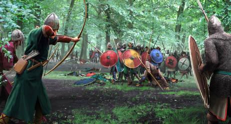 Saxon Ambush by RobbieMcSweeney