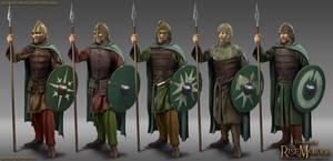 Rohan Mustered Spearmen by RobbieMcSweeney