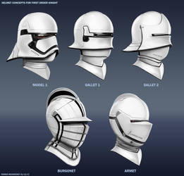 Helmet Concepts for First Order Knight by RobbieMcSweeney