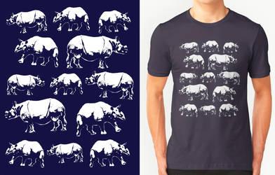 Indian Rhinoceros Design by RobbieMcSweeney