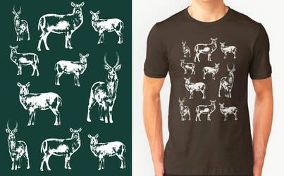 Waterbuck T-shirt Design by RobbieMcSweeney