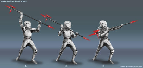 First Order Knight Poses by RobbieMcSweeney