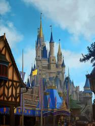 Disney World Castle Study by RobbieMcSweeney