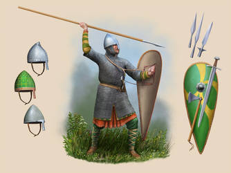 North Western European foot soldier c.1050 by RobbieMcSweeney