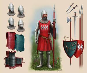 Waddesdon Knight (Sir Roger (?) Dynham) Circa 1350 by RobbieMcSweeney