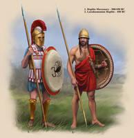 Classical Greek Hoplites by RobbieMcSweeney