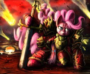 Pinkamena Warrior Pie by doubleWbrothers